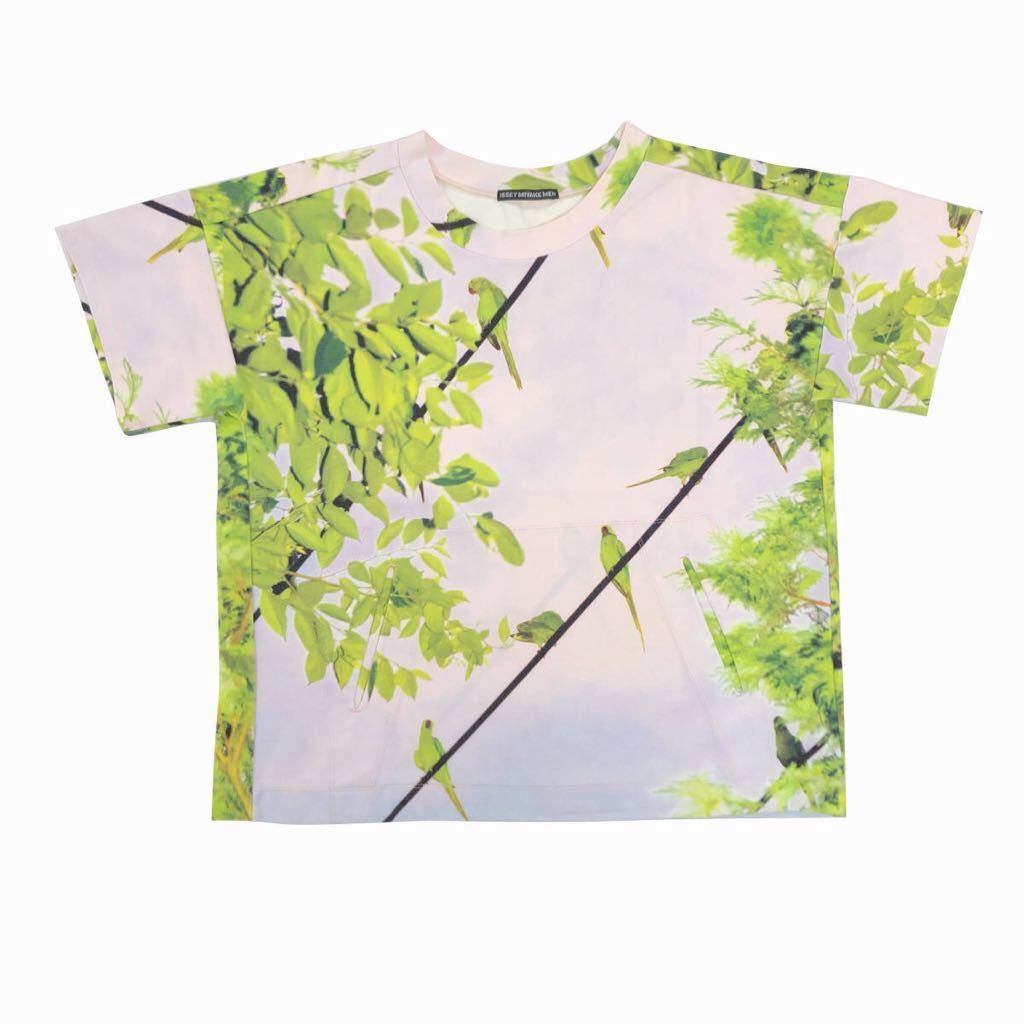 ISSEY MIYAKE MEN イッセイミヤケ メン 16SS LOOK7 水谷吉法「TOKYO PARROTS」転写プリントTシャツ 1 ME61JK037