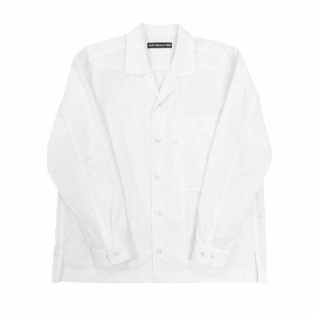 ISSEY MIYAKE MEN イッセイミヤケ メン 19SS LOOK1 ボックスポケットオープンカラーシャツ 2 ME91FJ175