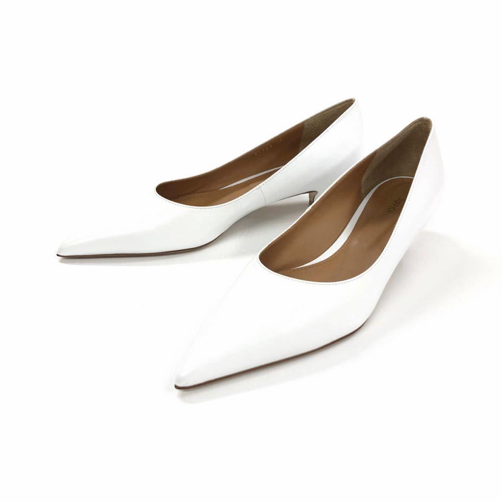 PIPPICHIC ピッピシック 2018年 3.5cm heel tip pointed ローヒールポインテッドトゥパンプス 37 PP18-TIP35-23