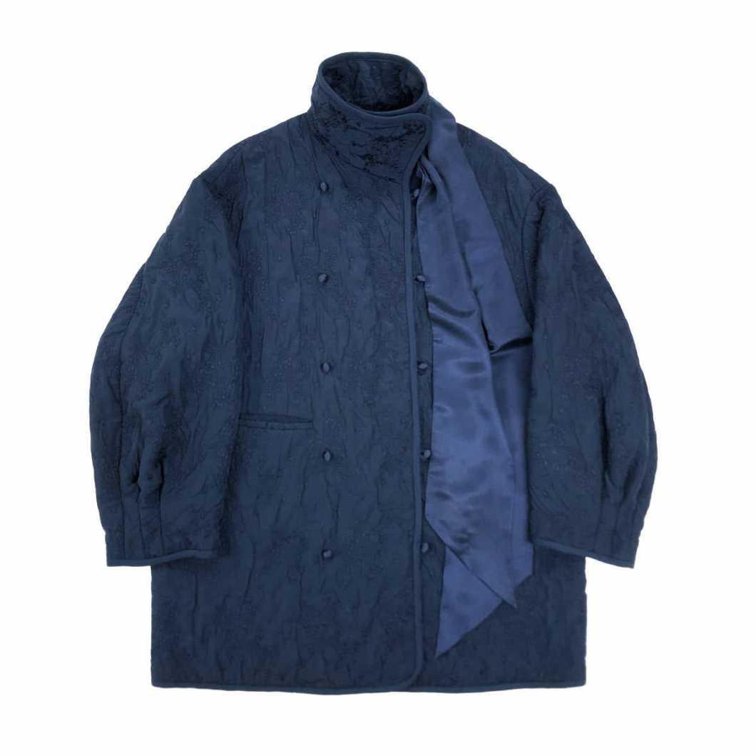 Mame Kurogouchi マメクロゴウチ 19AW リボンデザインフラワージャカードオーバーコート MM19AW-CO018 ジャケット