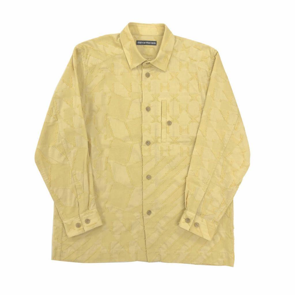ISSEY MIYAKE MEN イッセイミヤケ メン 20AW GEOMETRIC CUT JACQUAD ジオメトリックカットジャカードシャツ 2 ME03FJ064