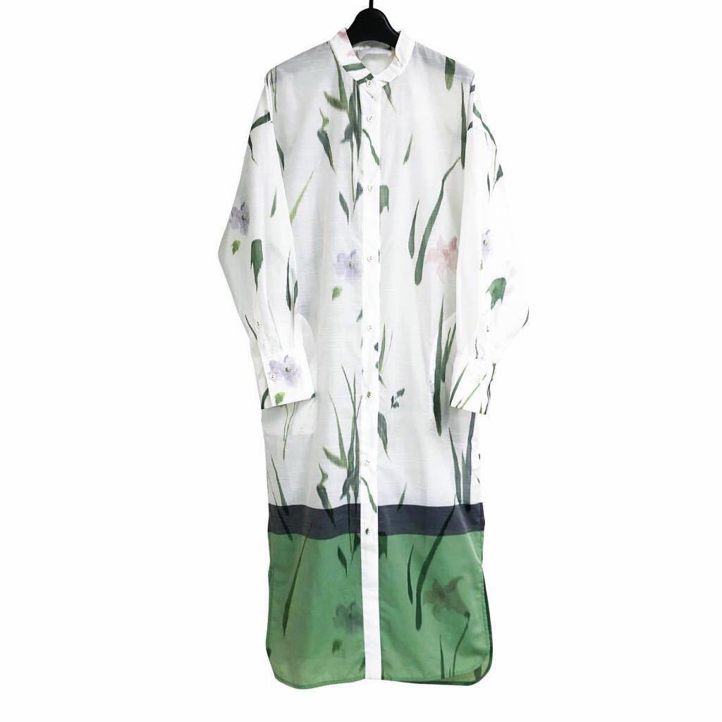 Mame Kurogouchi マメクロゴウチ 20SS KASURI Jacquard Shirt One-Piece 絣ジャカードシャツワンピース MM20SS-DR056