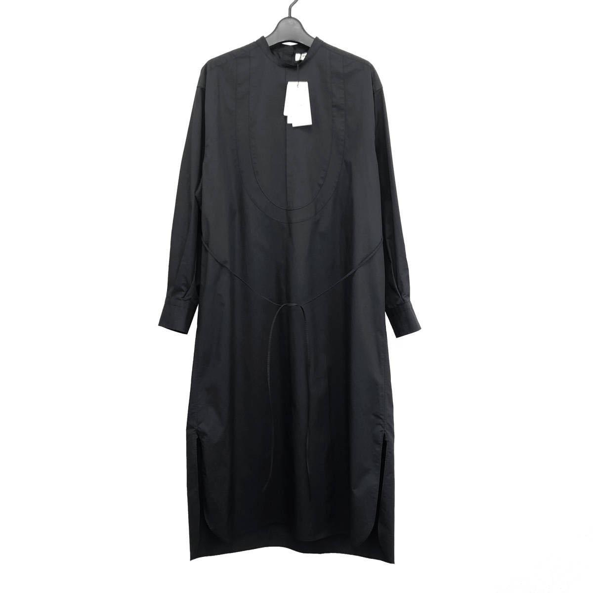 HYKE ハイク 20AW BIB FRONT SHIRT DRESS ビブフロントシャツワンピース 15114