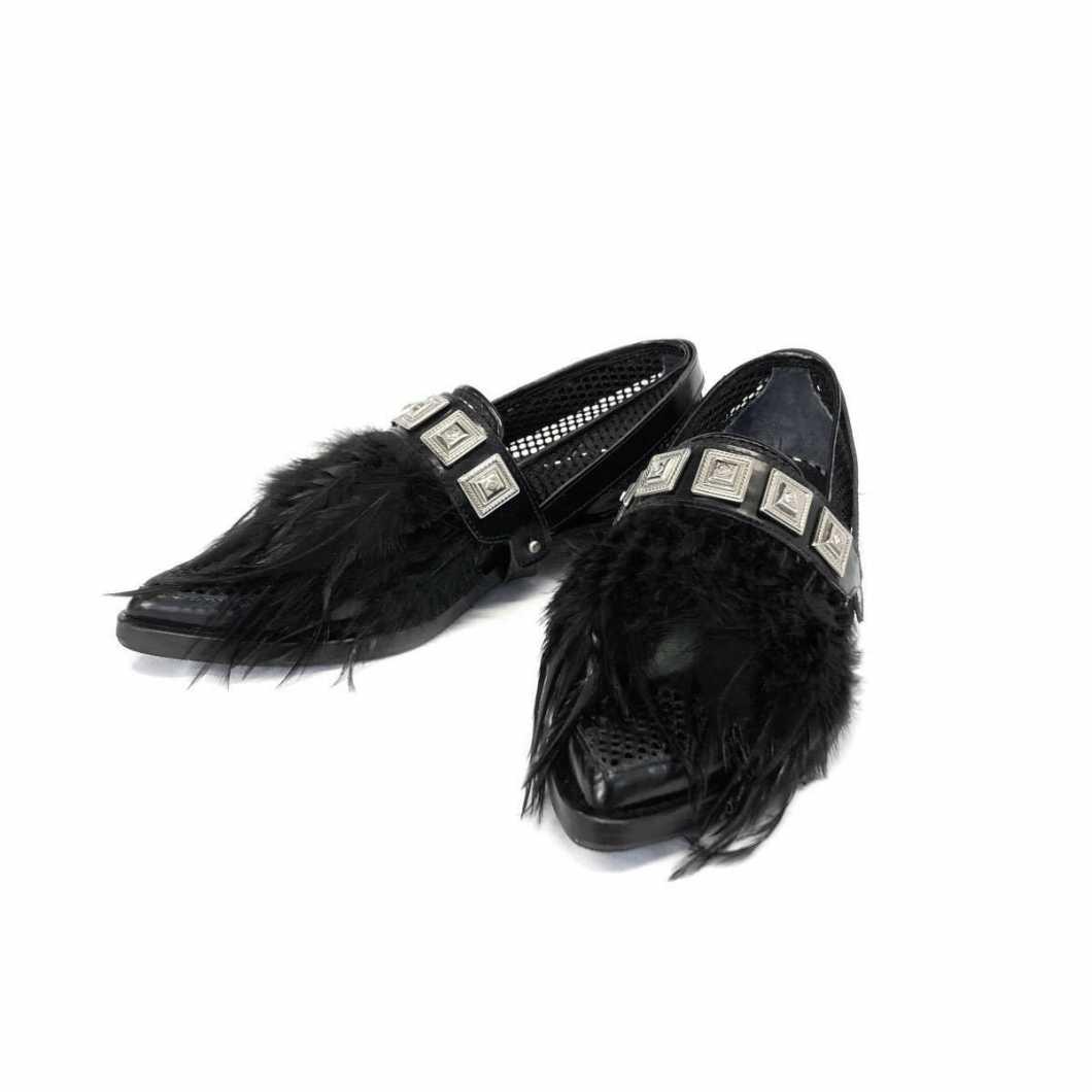 TOGA PULLA トーガ プルラ 16SS Mesh shoes フェザー装飾メッシュシューズ 36 TP61-AJ741