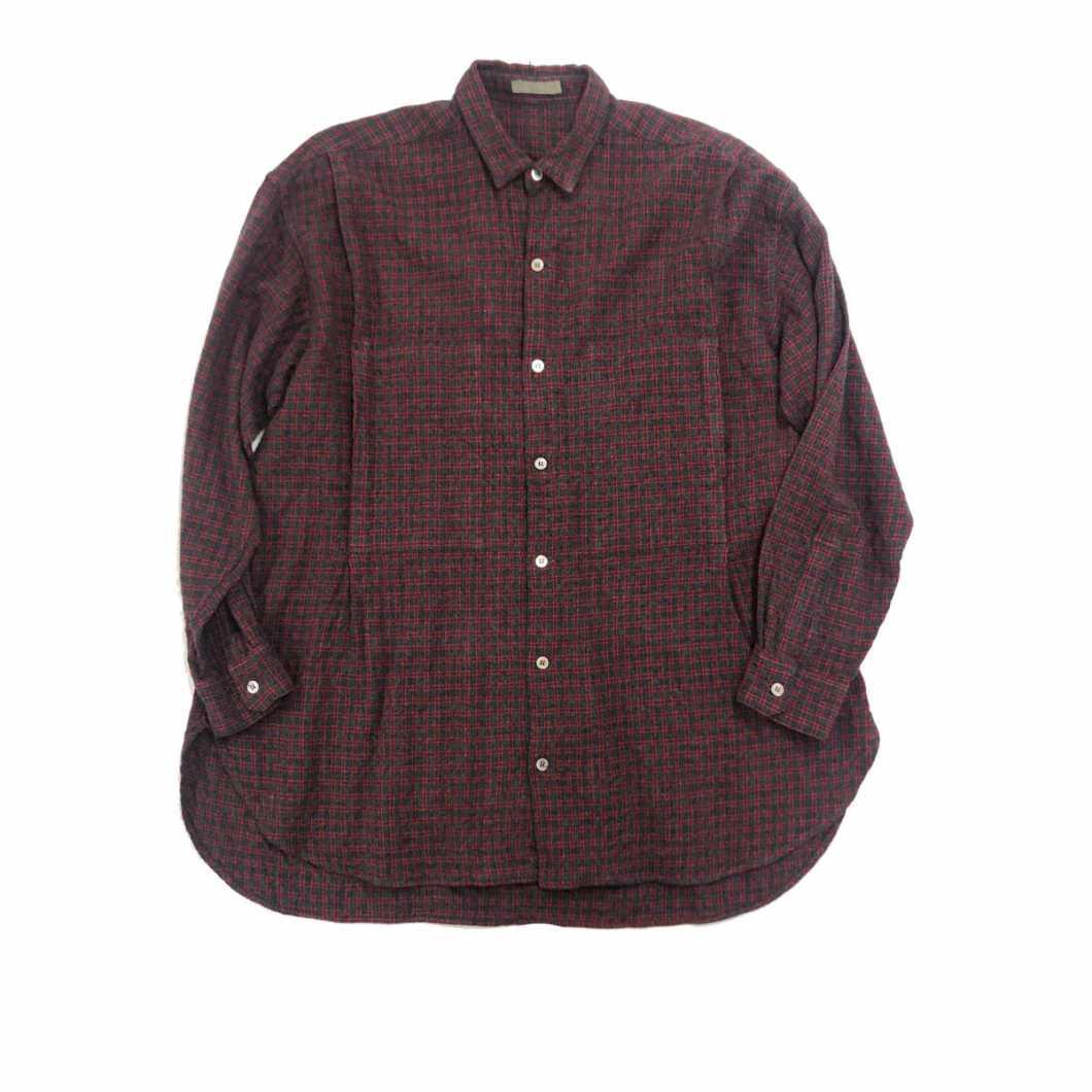 Y's for men ワイズフォーメン 80's ウールレーヨンタイニーカラーチェックシャツ【買取金額 5,000円】