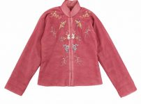 tricot COMME des GARCONS トリコ コムデギャルソン 1997AW ポリエステルシフォン花鳥刺繍カンフージャケット